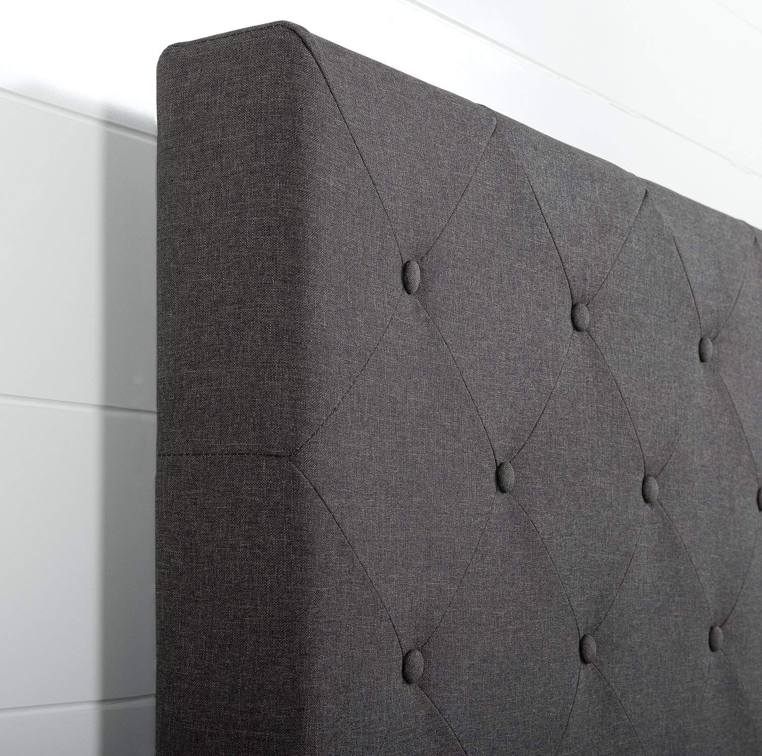 Diamond Stitched Upholstered headboard