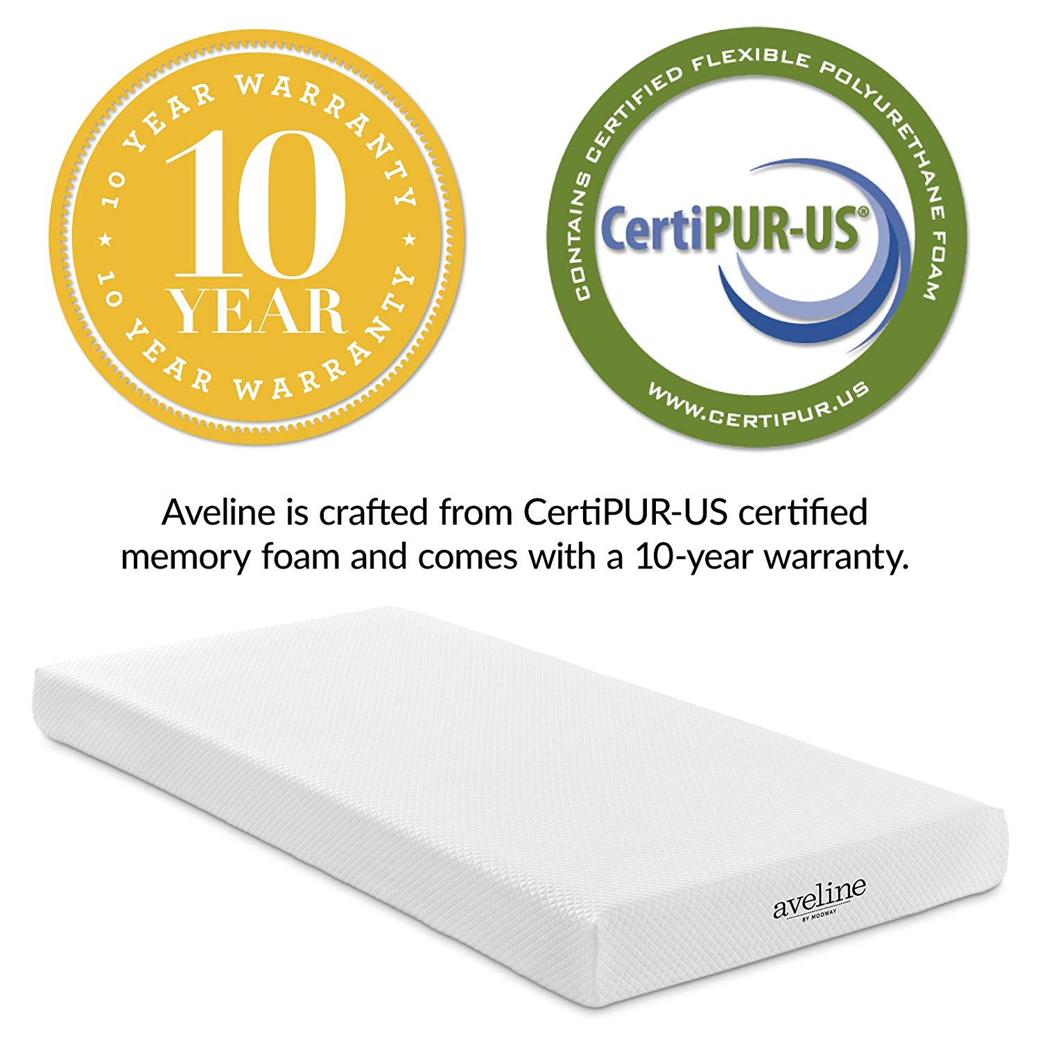 Certipur-us certified Modway Aveline Gel Infused Memory Foam Mattress