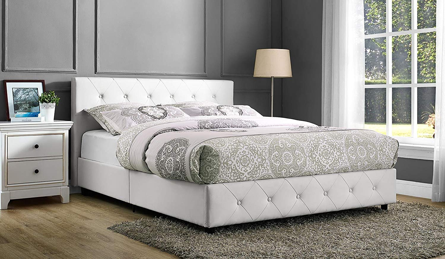 DHP Leather Platform Bed