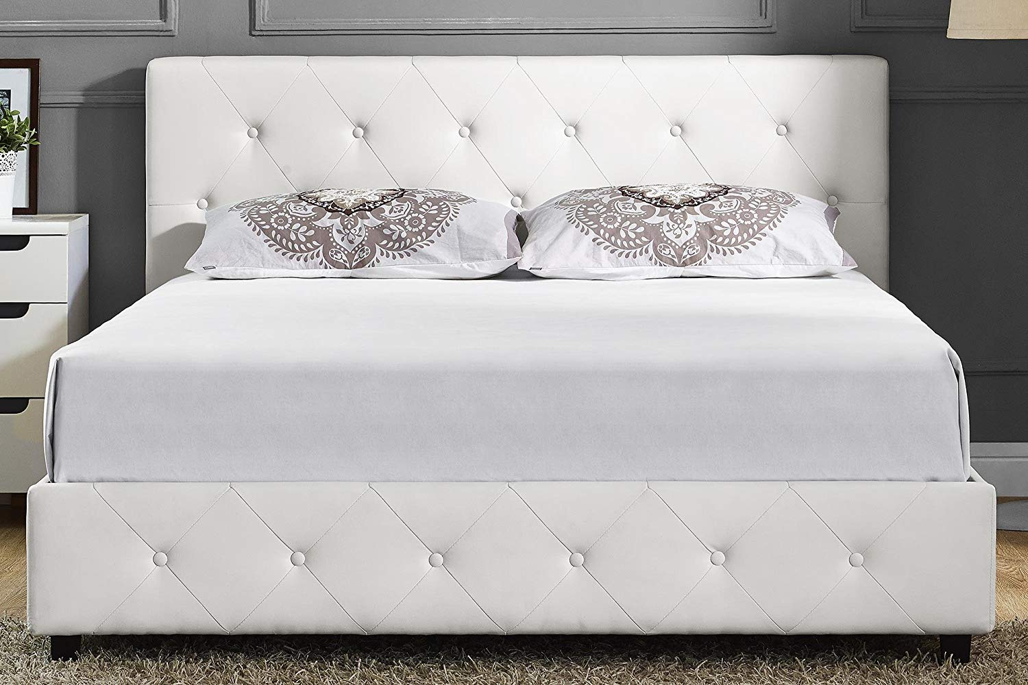 DHP Leather Platform Bed beautiful looks