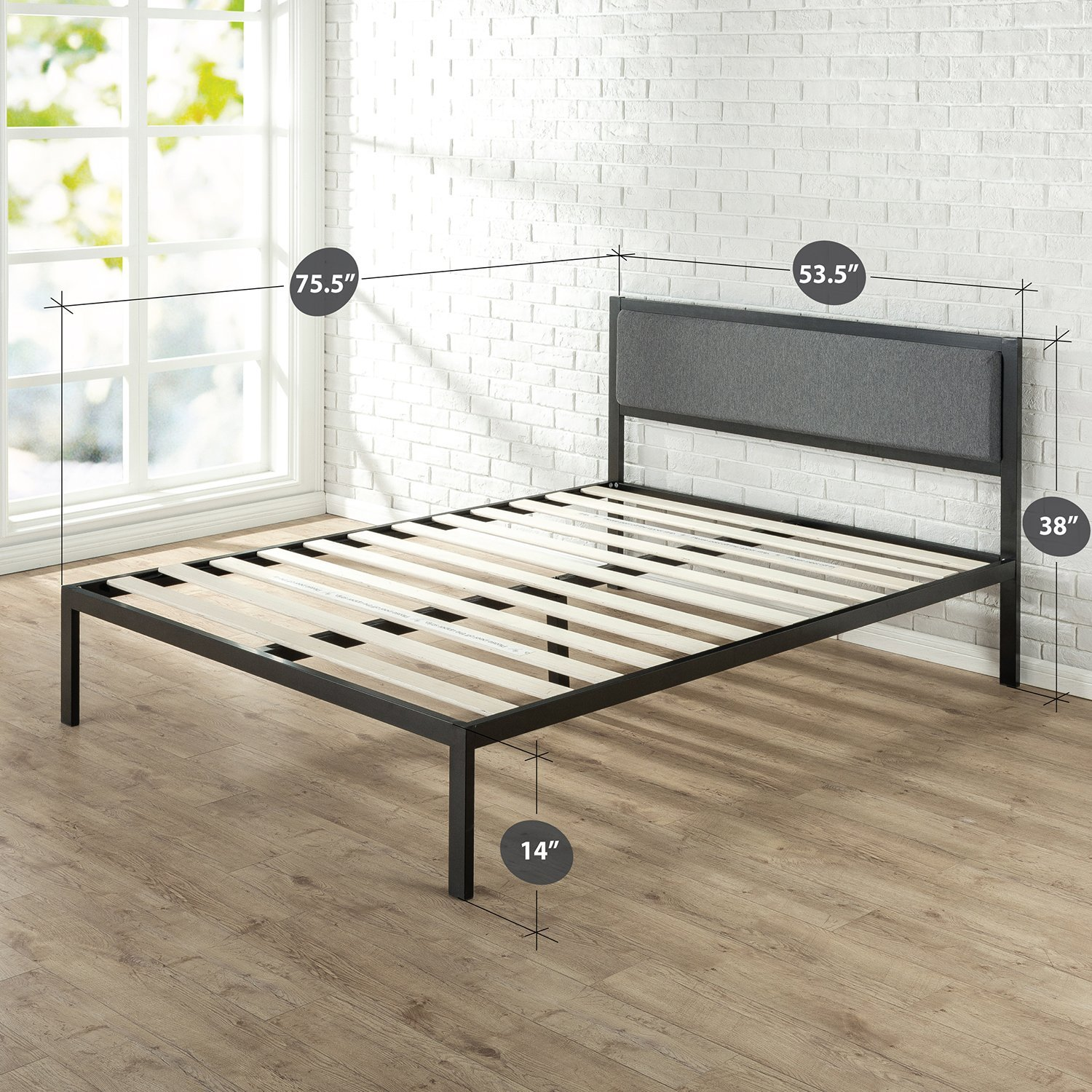 Diamension Zinus 14 Inch Platform Metal Bed Frame