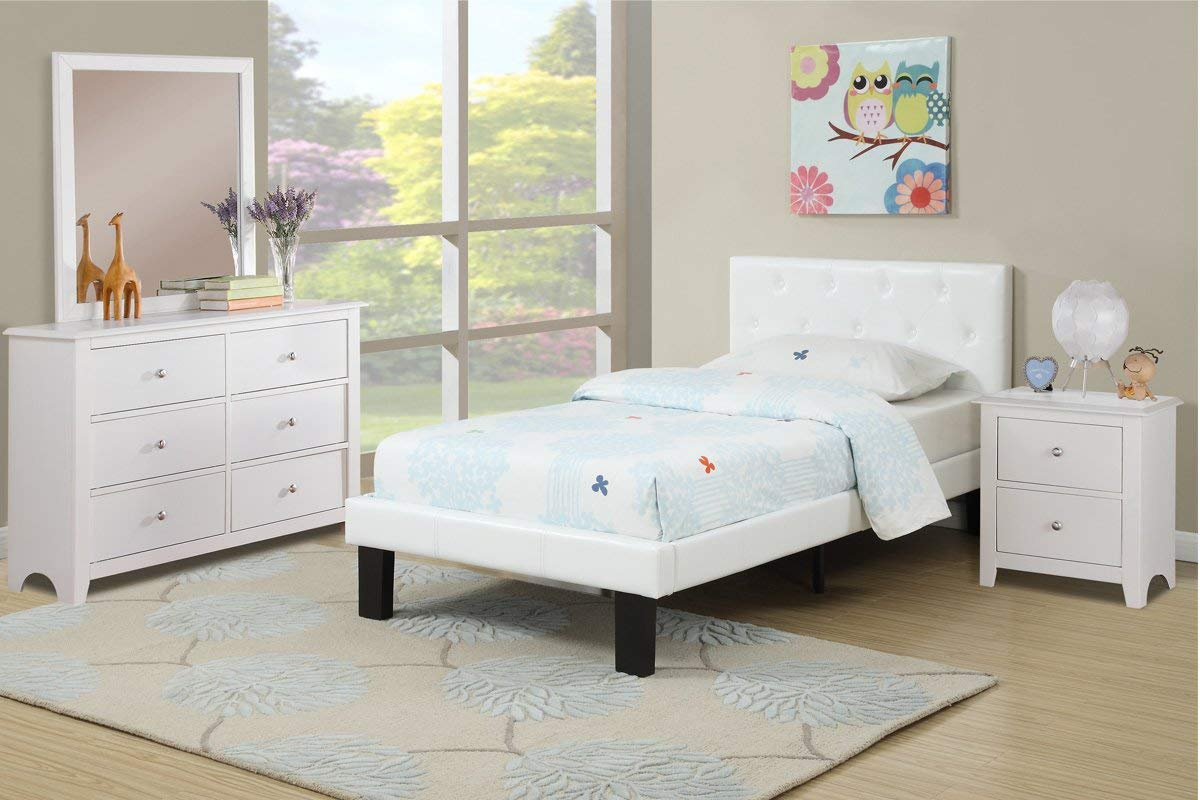 Poundex PU Upholstered Platform Bed Review