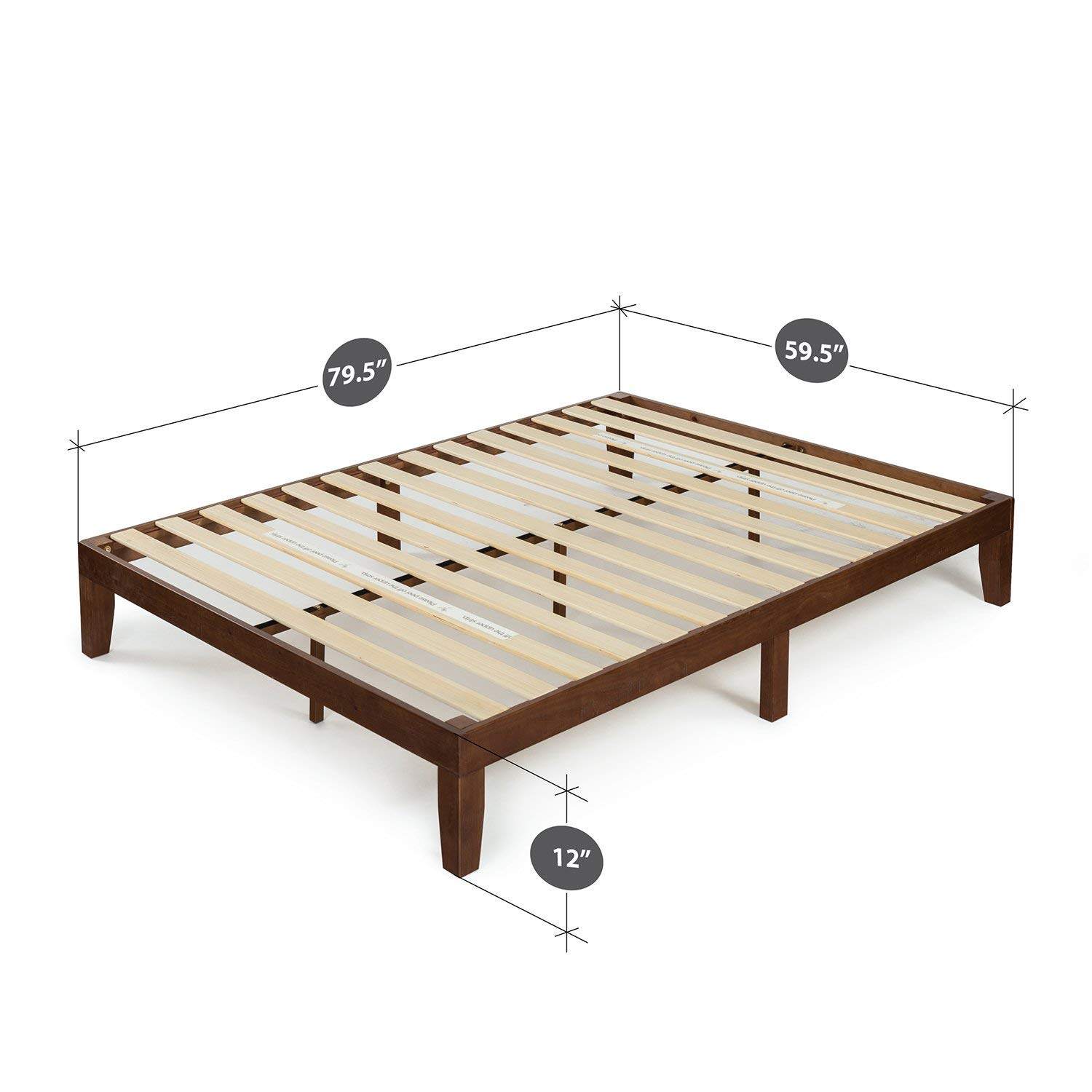 Zinus 12 Inch Wood Platform Bed features