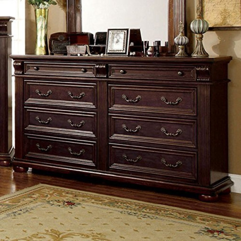 6 piece bedroom set with A dresser