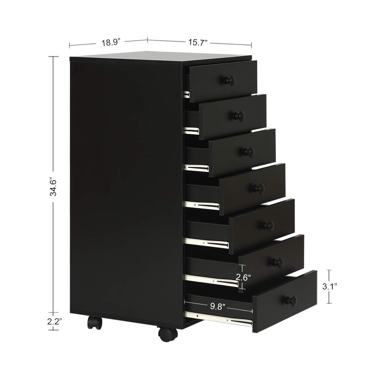 Features of DEVAISE 7 Drawers Bedroom Chest Of Drawers