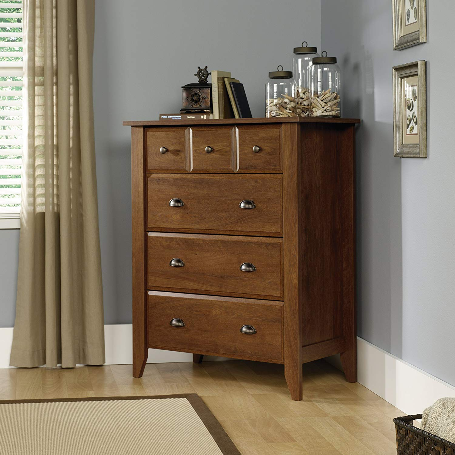 Sauder 410288 bedroom chest of drawer oiled oak