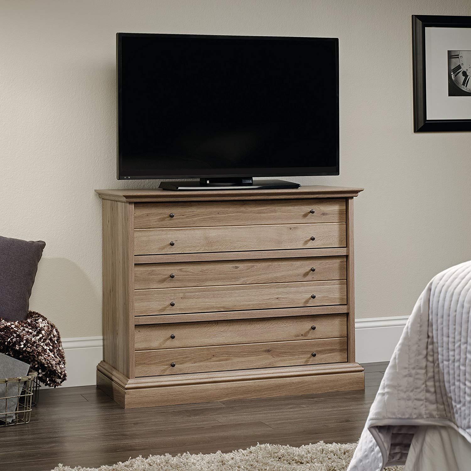 TV on Sauder Bedroom Chest Of Drawers