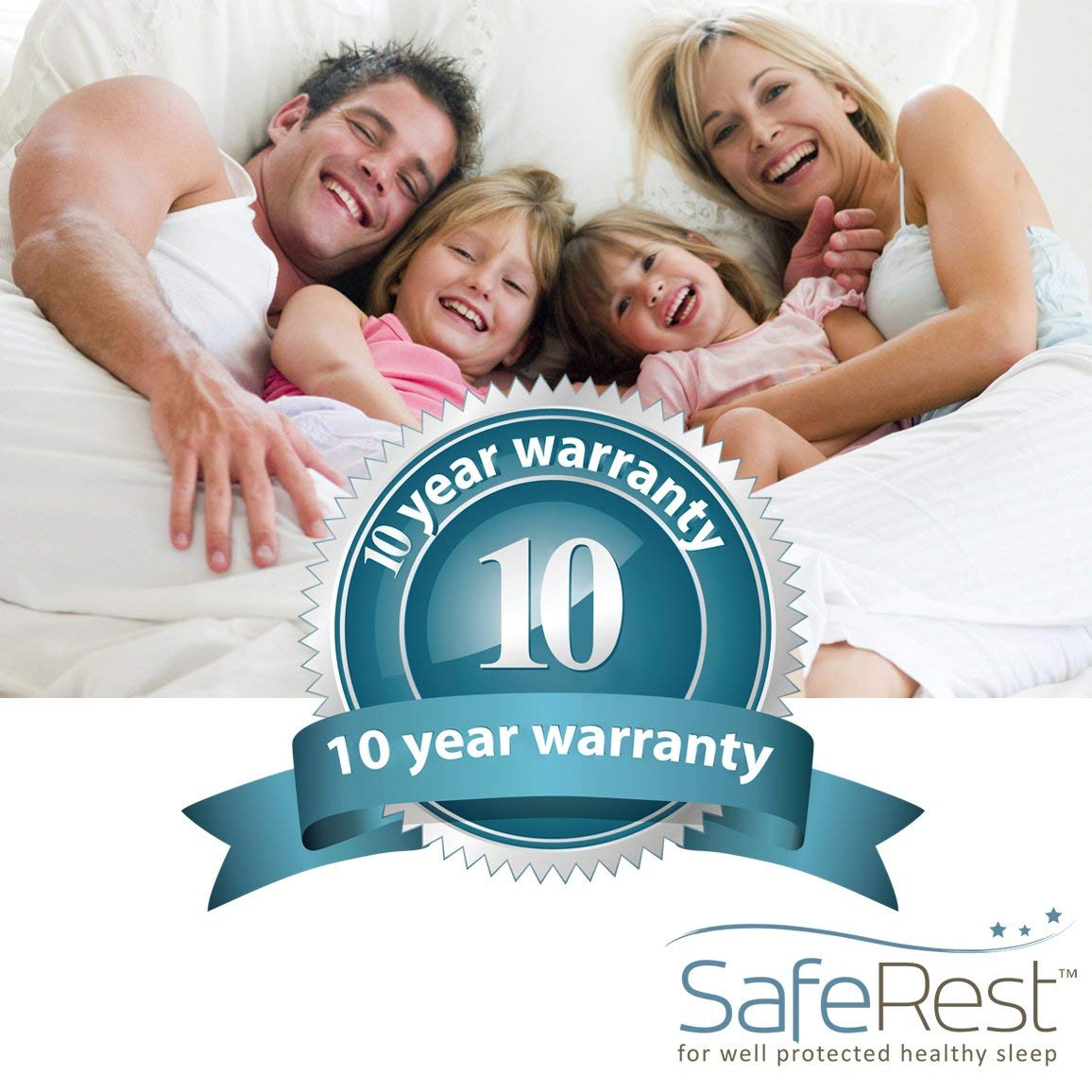 10 year warranty of SafeRest Waterproof Mattress Protector