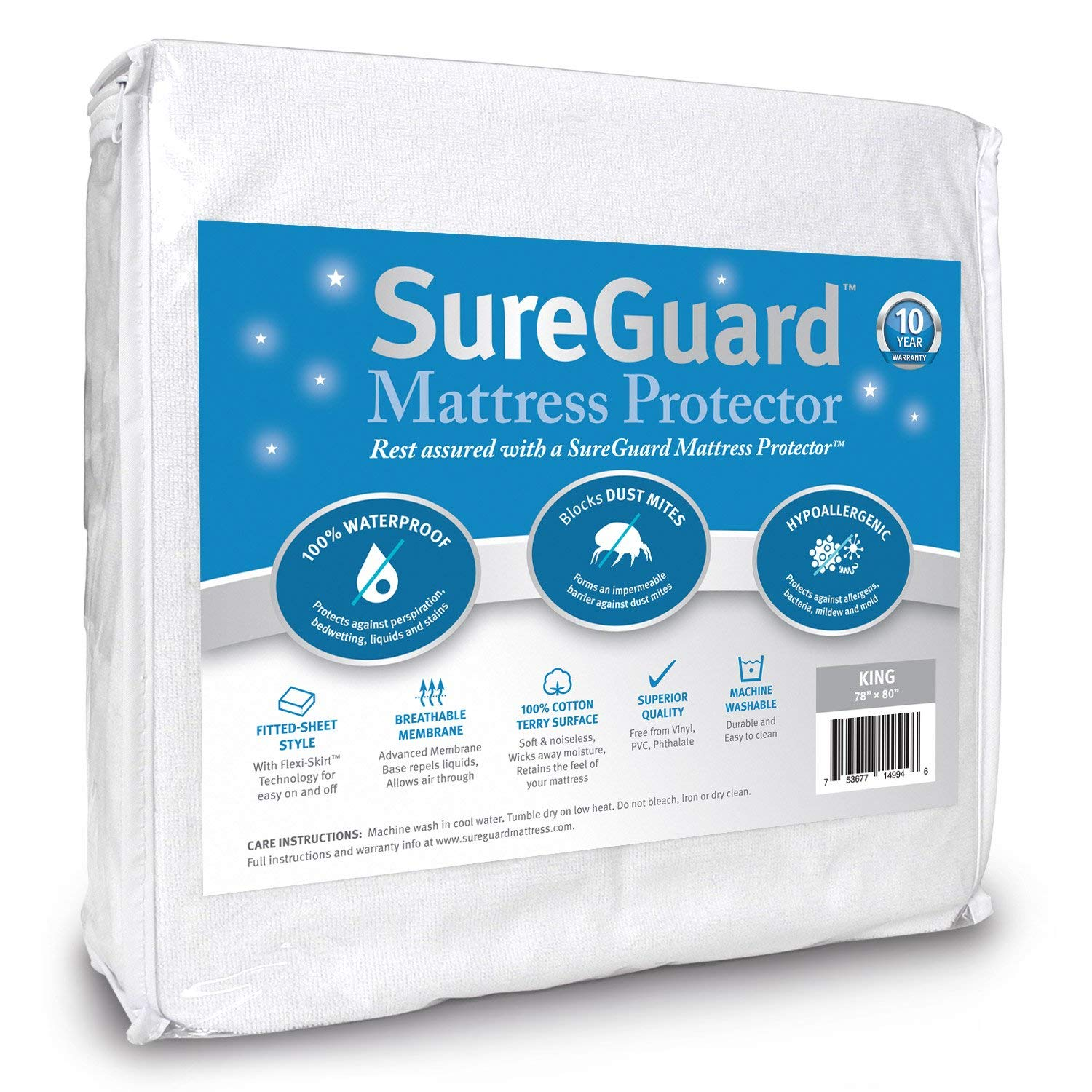 Best Waterproof Mattress Protector By SureGuard
