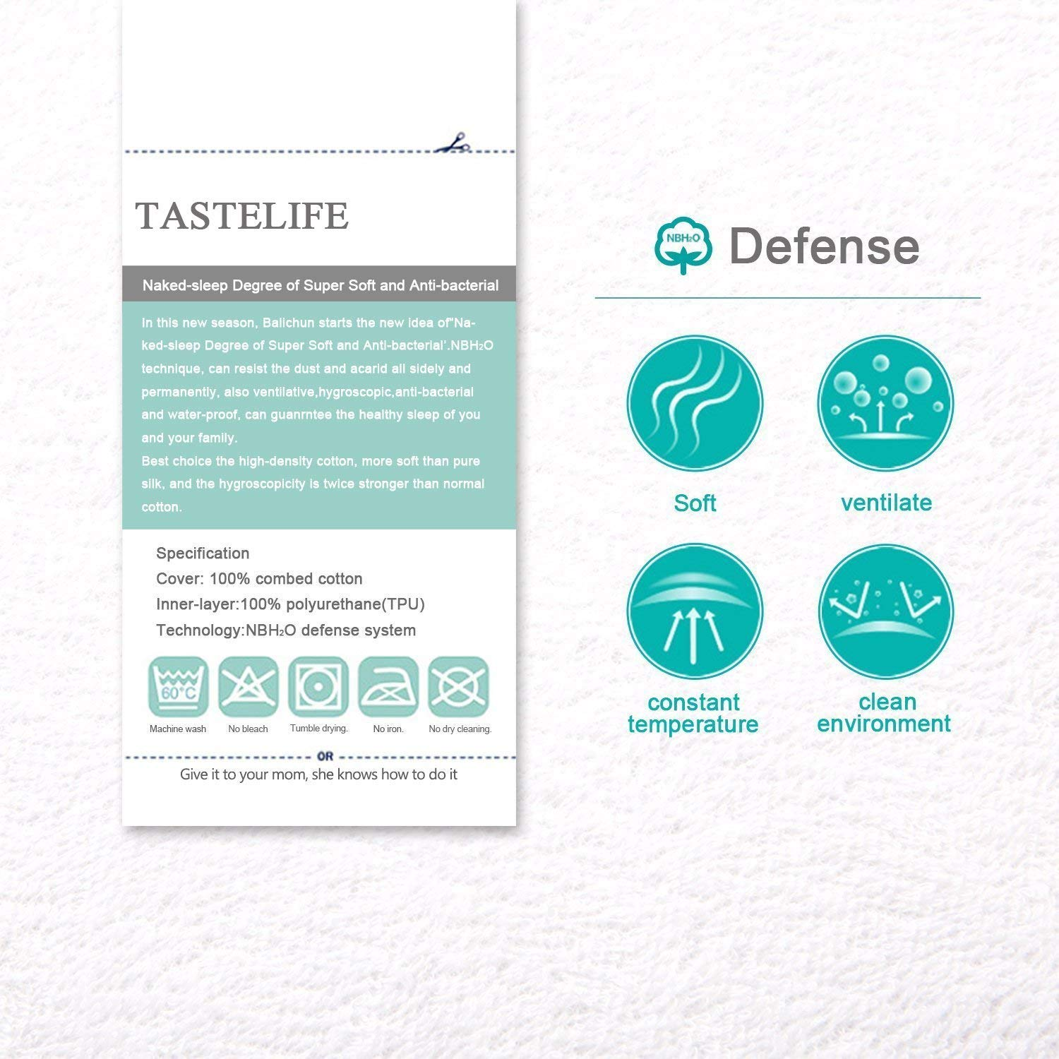 Features of Tastelife Waterproof Mattress Protector