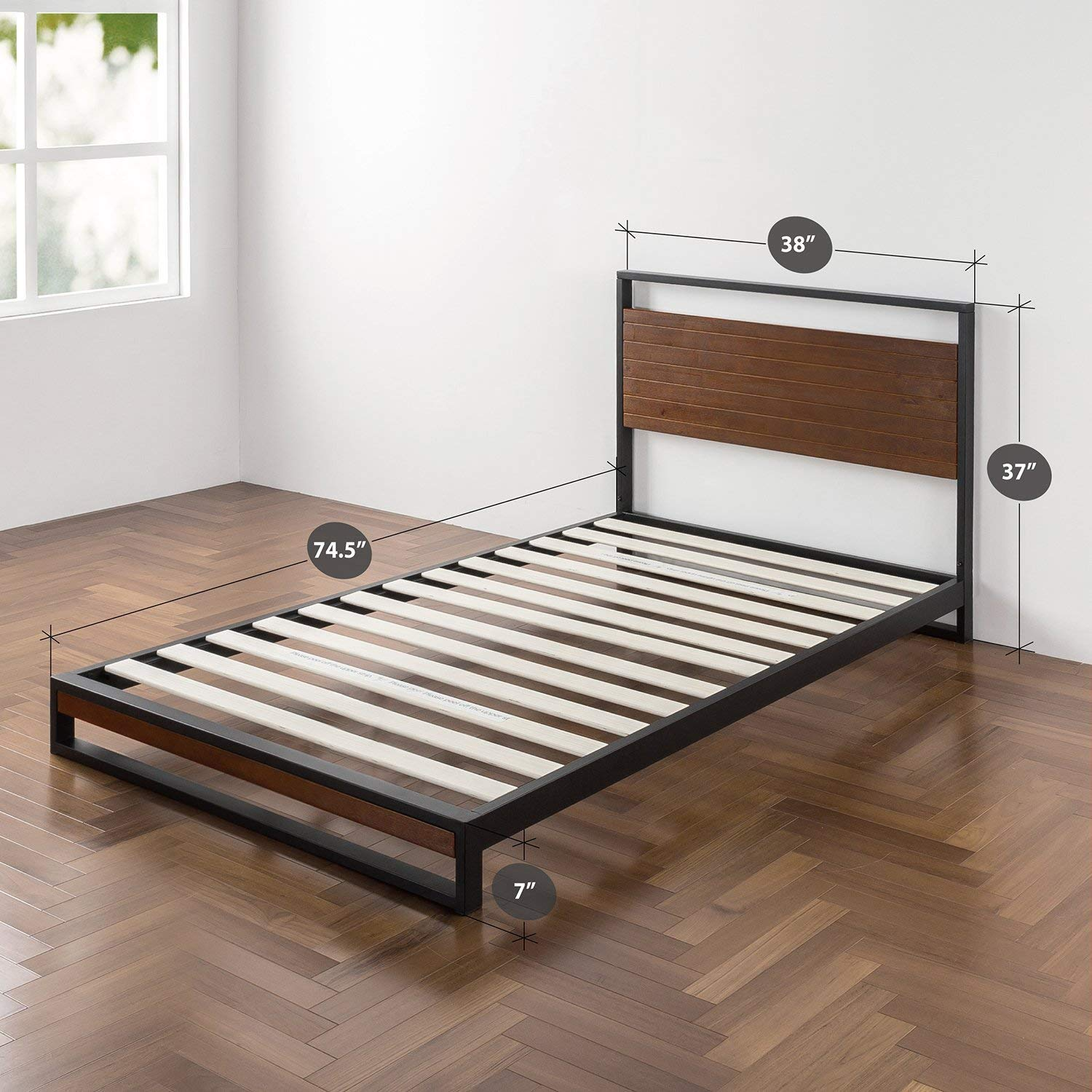 Features of Zinus Metal and Wood Platform Bed