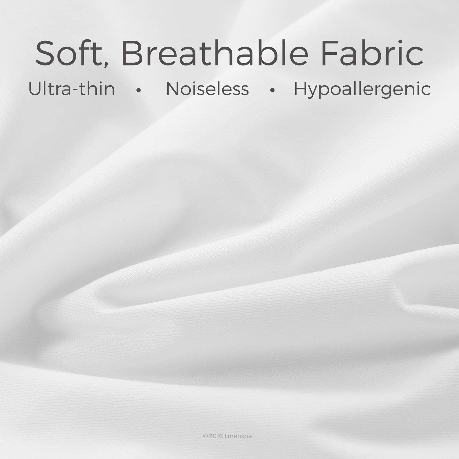 Linenspa Mattress Protector is ultra thin noiseless and hypoallergenic