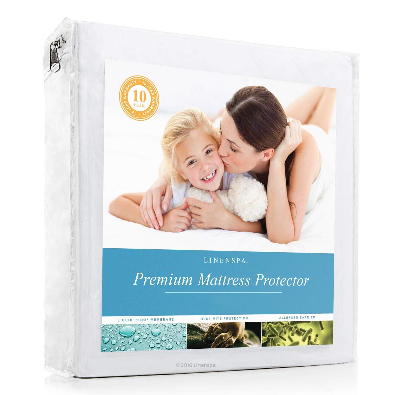 Linenspa Premium Smooth Fabric 100% Waterproof Mattress Protector