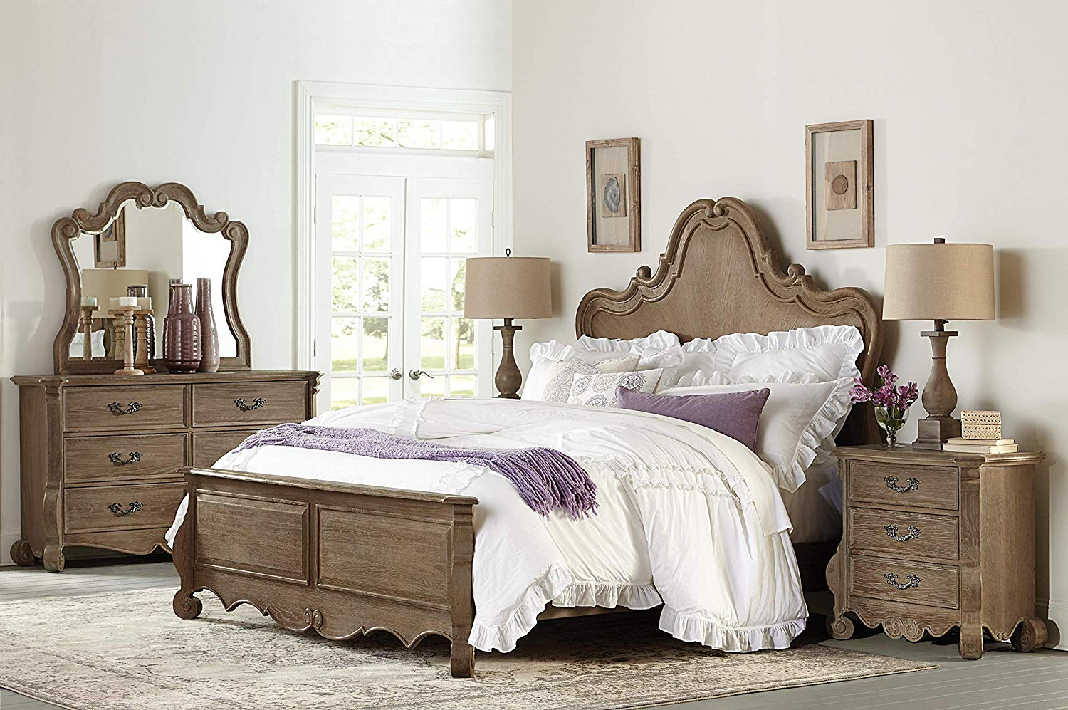 5PC Brown Bedroom Set review