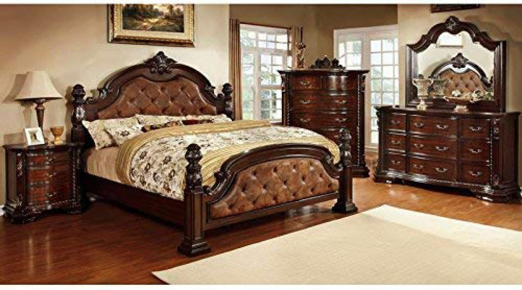 6-Piece Dark Walnut Luxury Bedroom Set