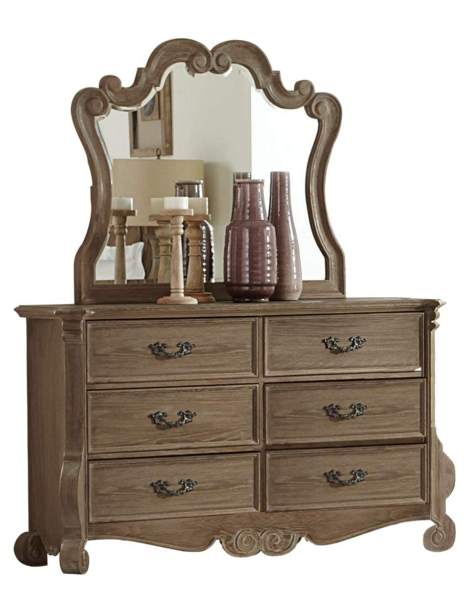 Dresser with mirror bedroom set