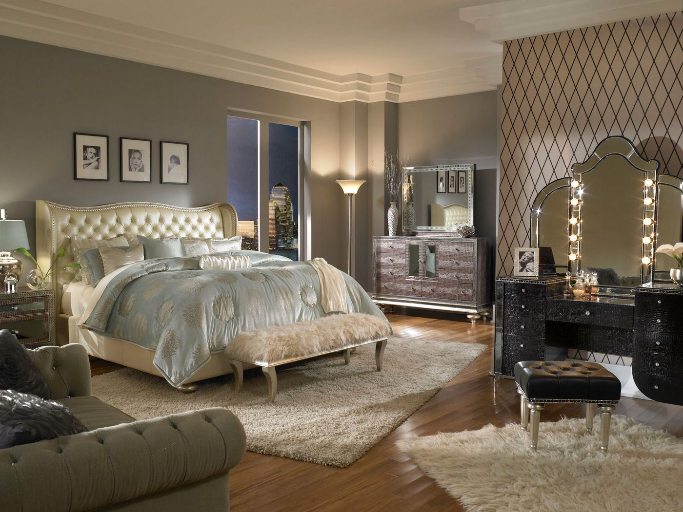 Hollywood Swank Luxury Bedroom Sets