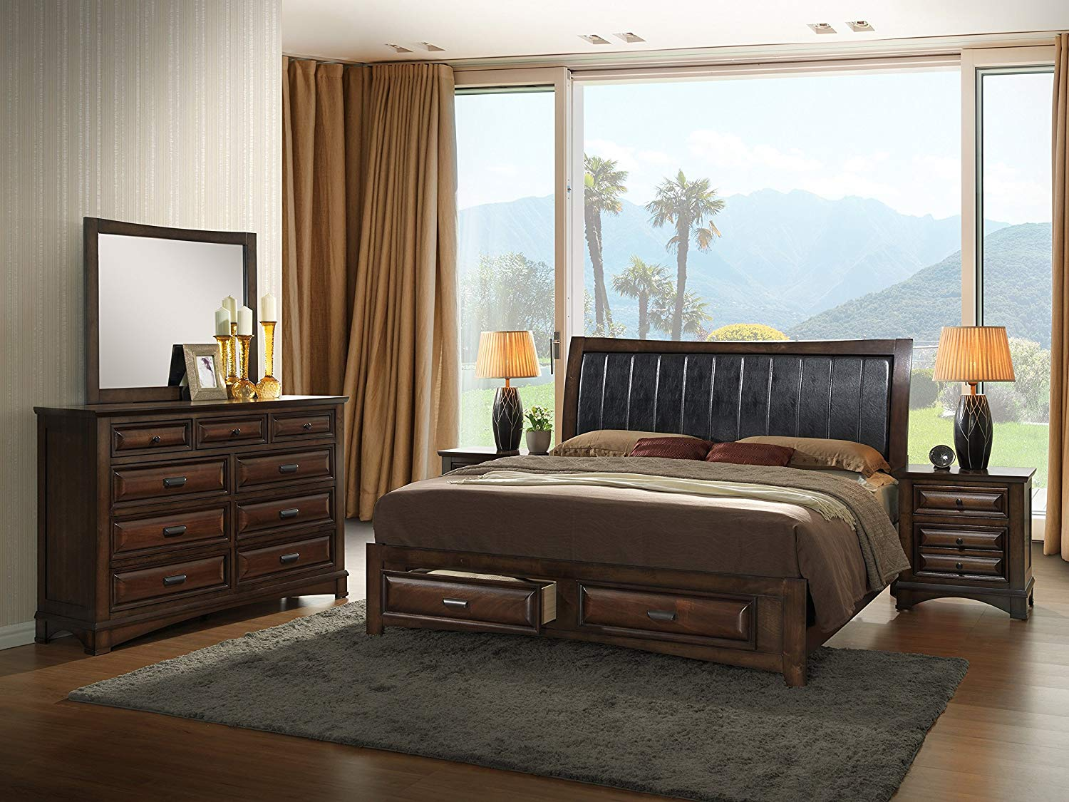 Master bedroom sets by Roundhill Furniture