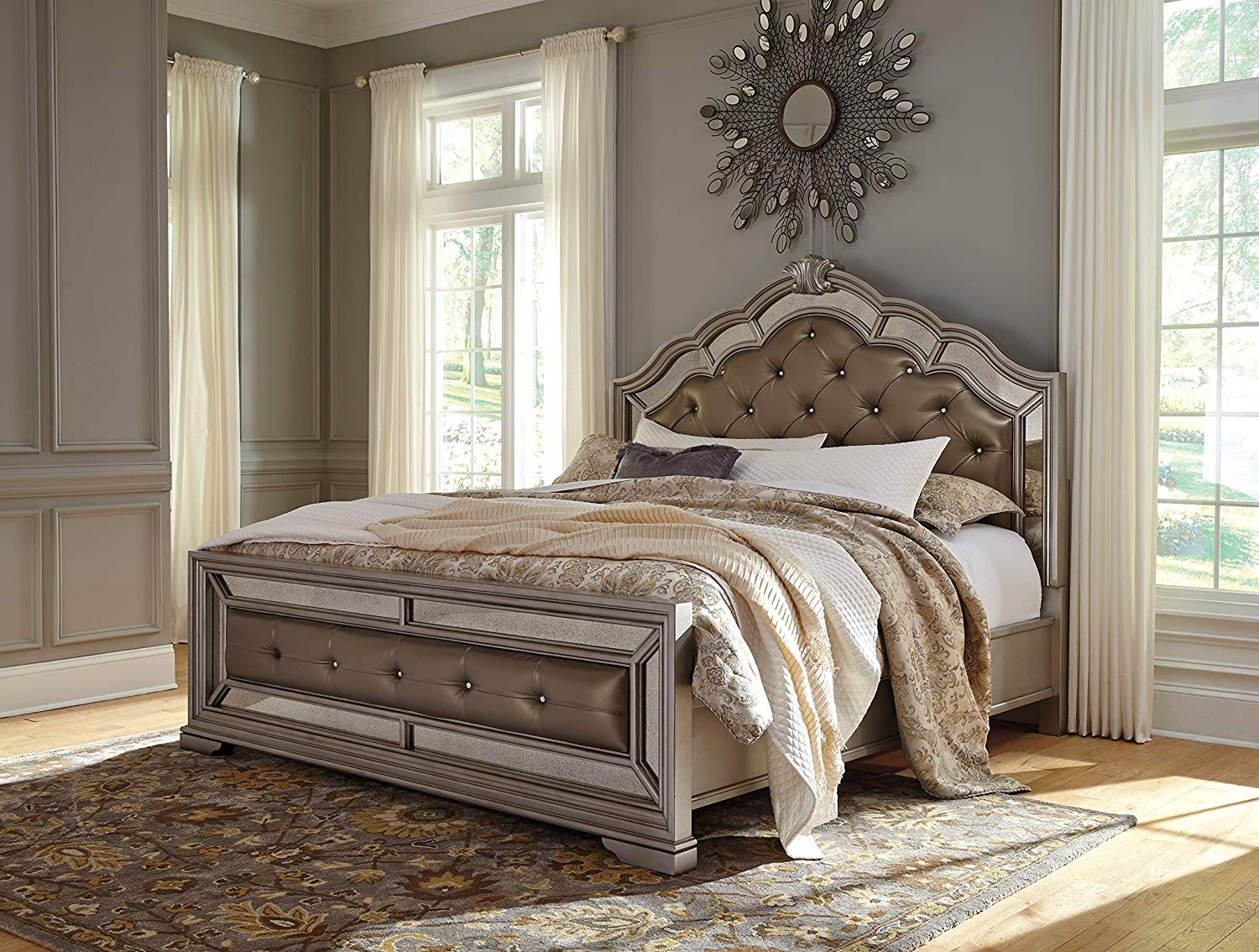 Silver Bedroom Set with king size bed
