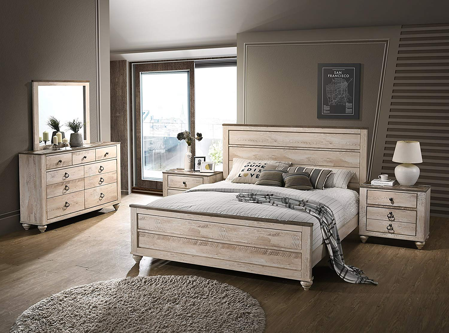 5 Piece Queen Bedroom Set Review by Roundhill Furniture