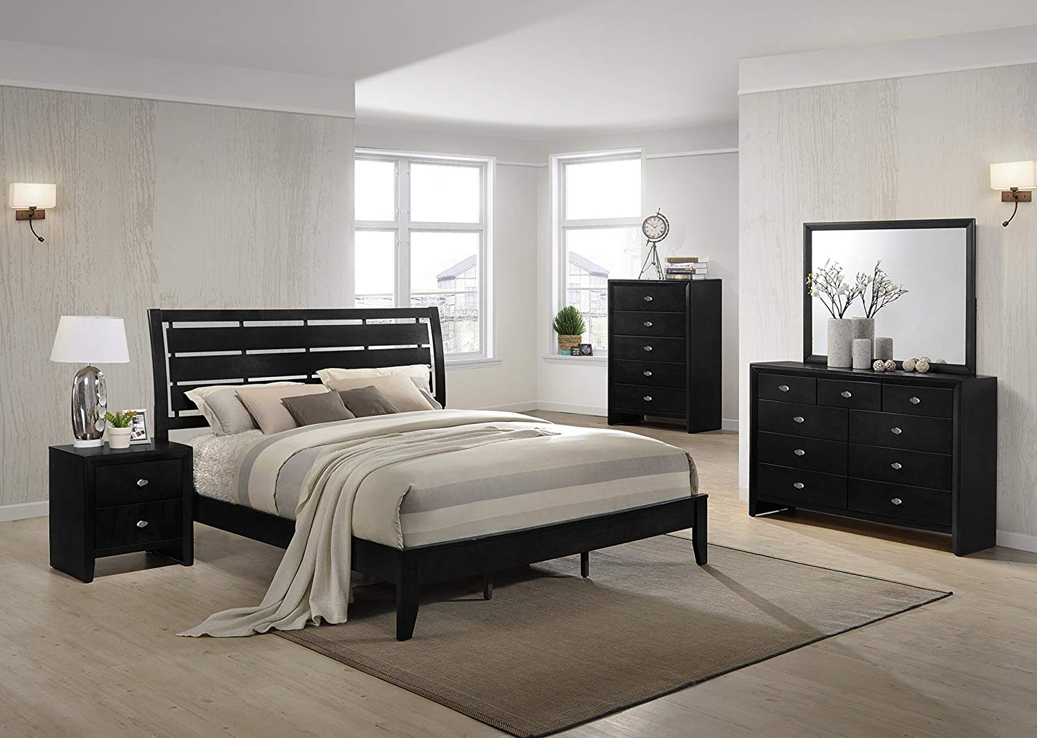 9 Drawers Dresser in bedroom looks