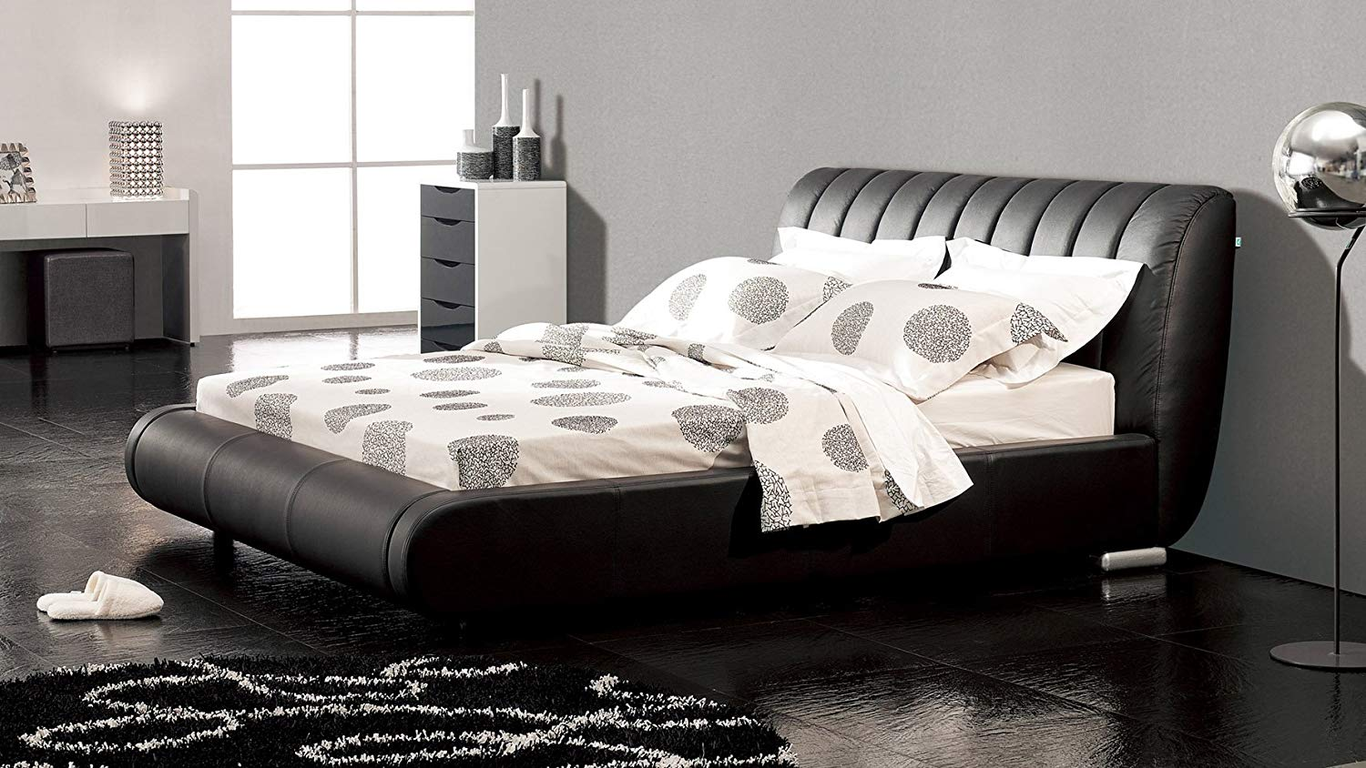 Contemporary Dior Leather Platform Bed Review
