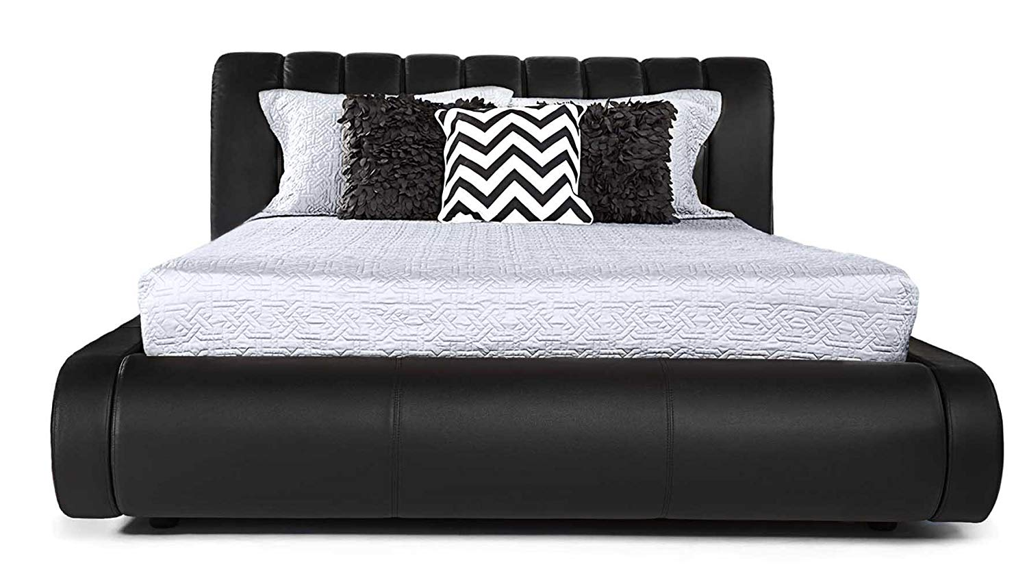 Contemporary Leather Platform Bed review