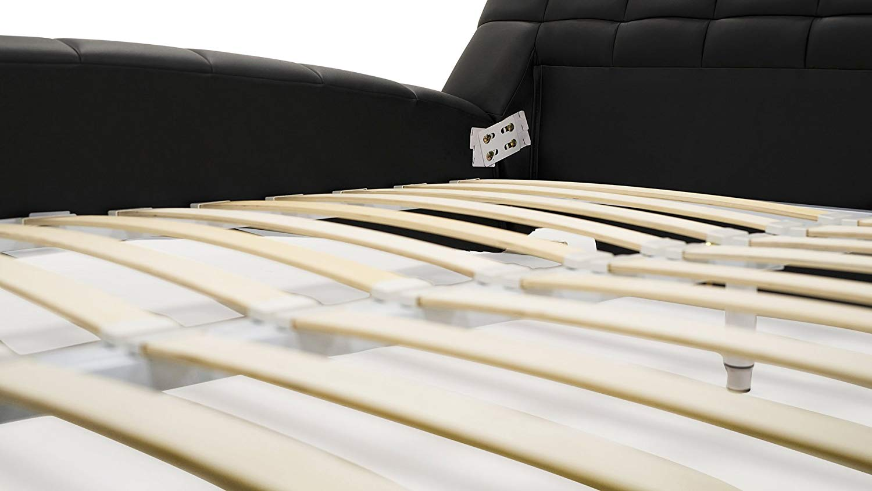 Platform bed frame with wooden slat