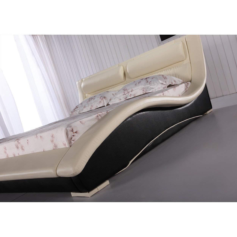 Side view modern platform bed by Matisse Napoli