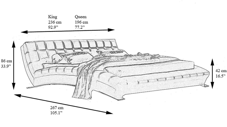 dimension of zuri platform bed