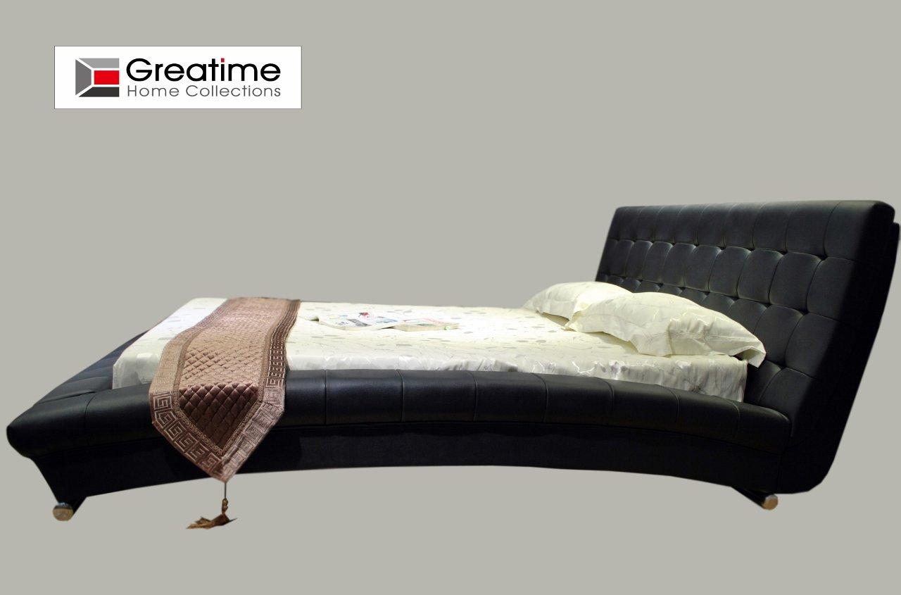 leatherette Platform Bed review