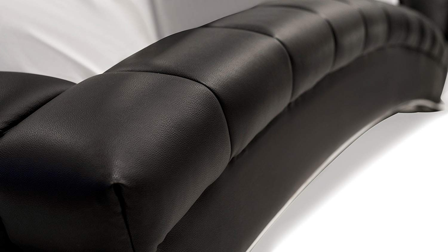 real genuine leather at the headboard