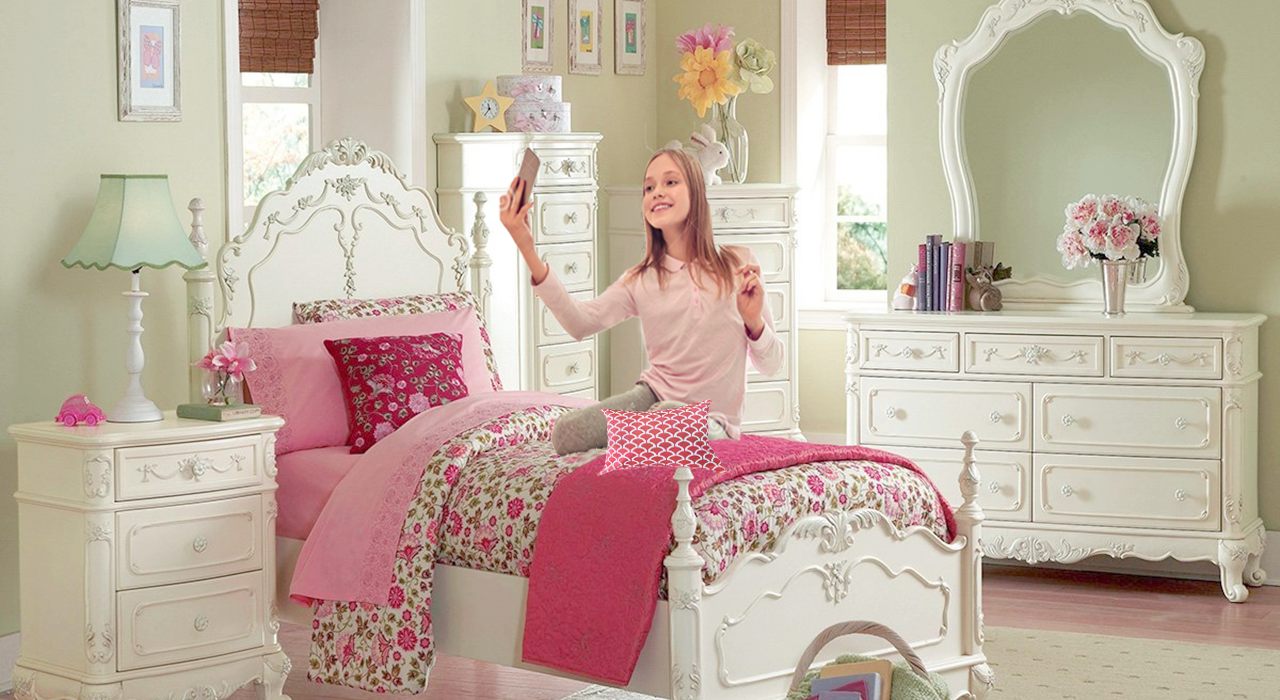 . Cinderella Twin Bedroom Set for Little Princess Room   Free Shipping