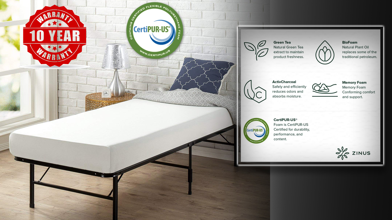Zinus twin narrow mattress review