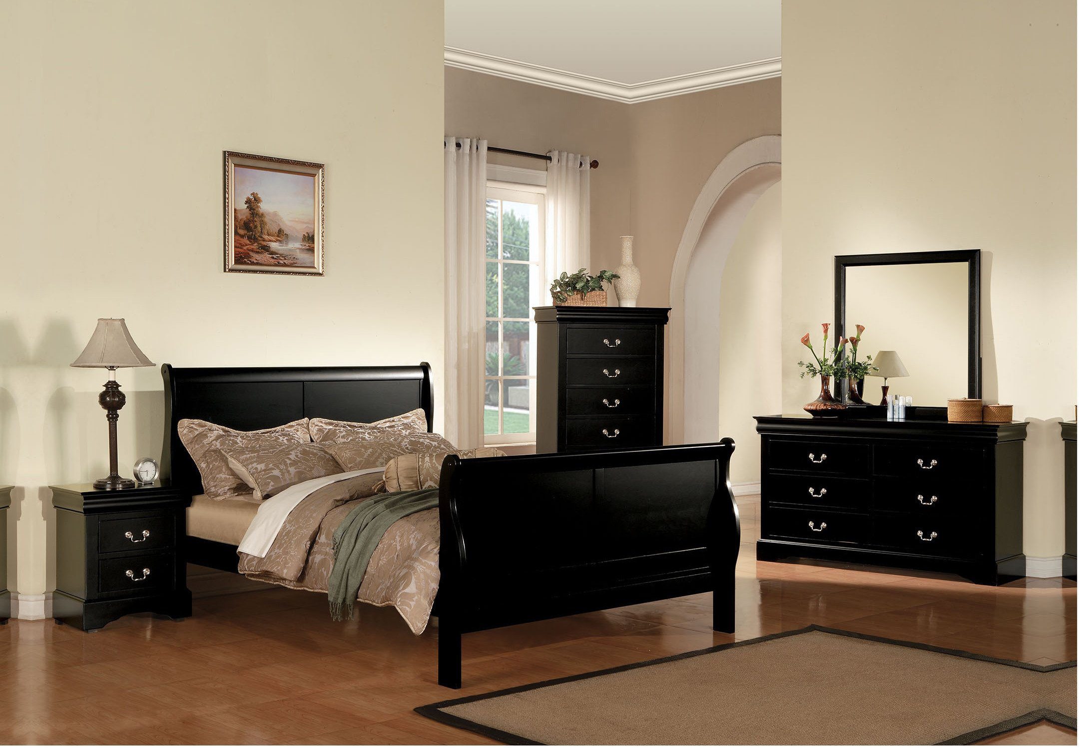 4pc louis philippe bedroom set review