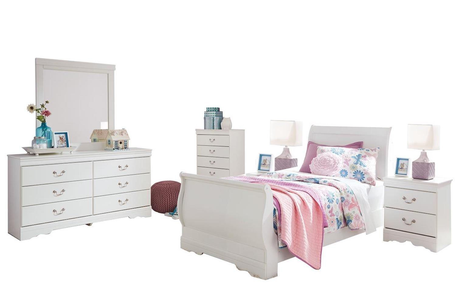 Ashley Furniture 6 Piece Twin Bedroom Set For Girl Free Shipping