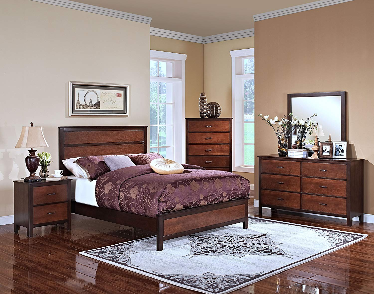 4-Piece King Bedroom Set by New Classic Furniture
