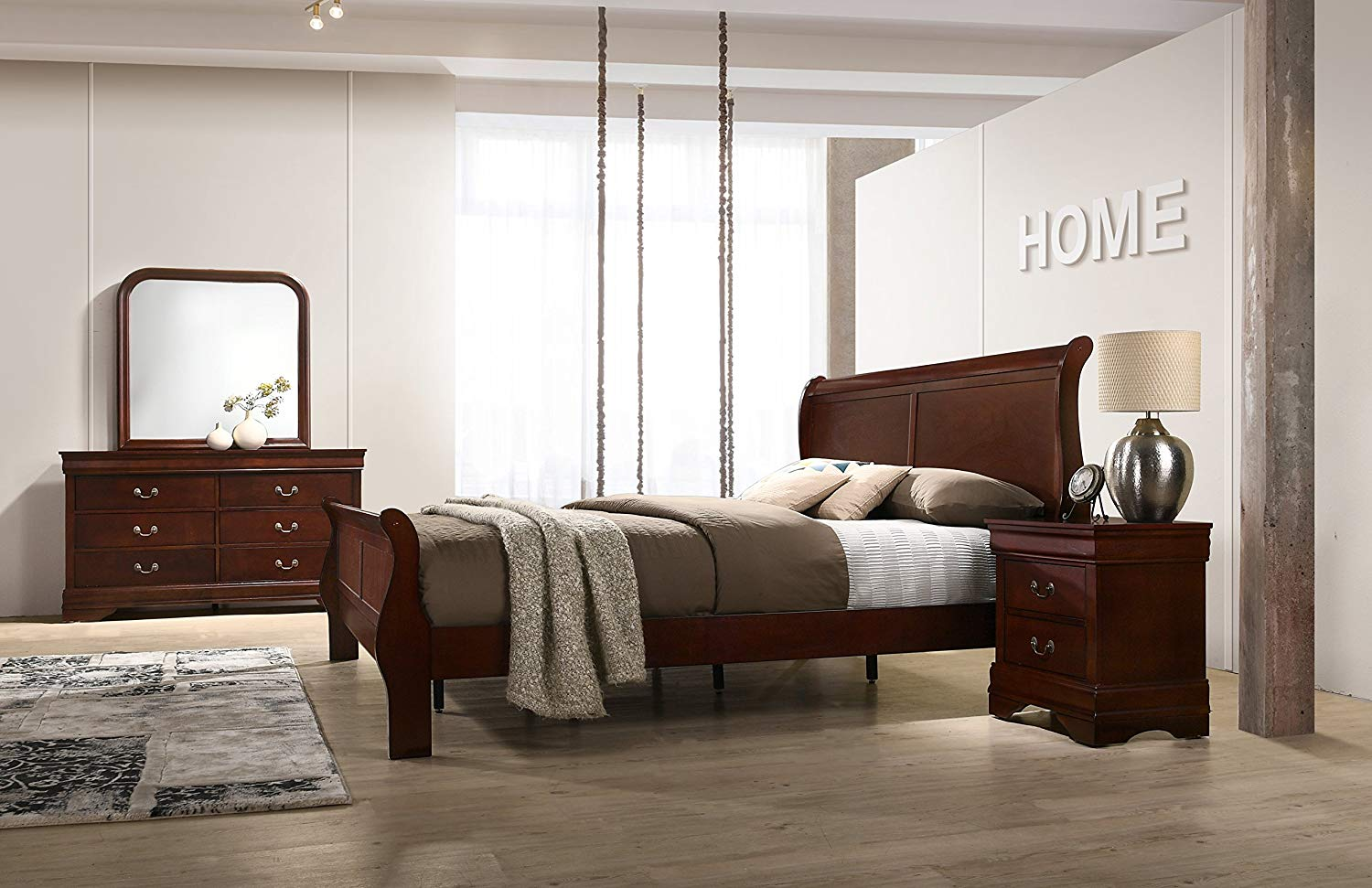 Louis Philippe Style 5 piece King Bedroom set