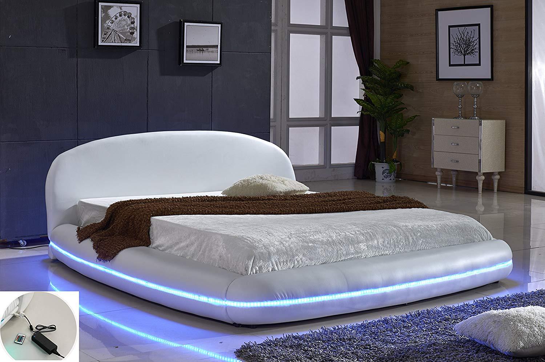 Platform Bed with LED Lights
