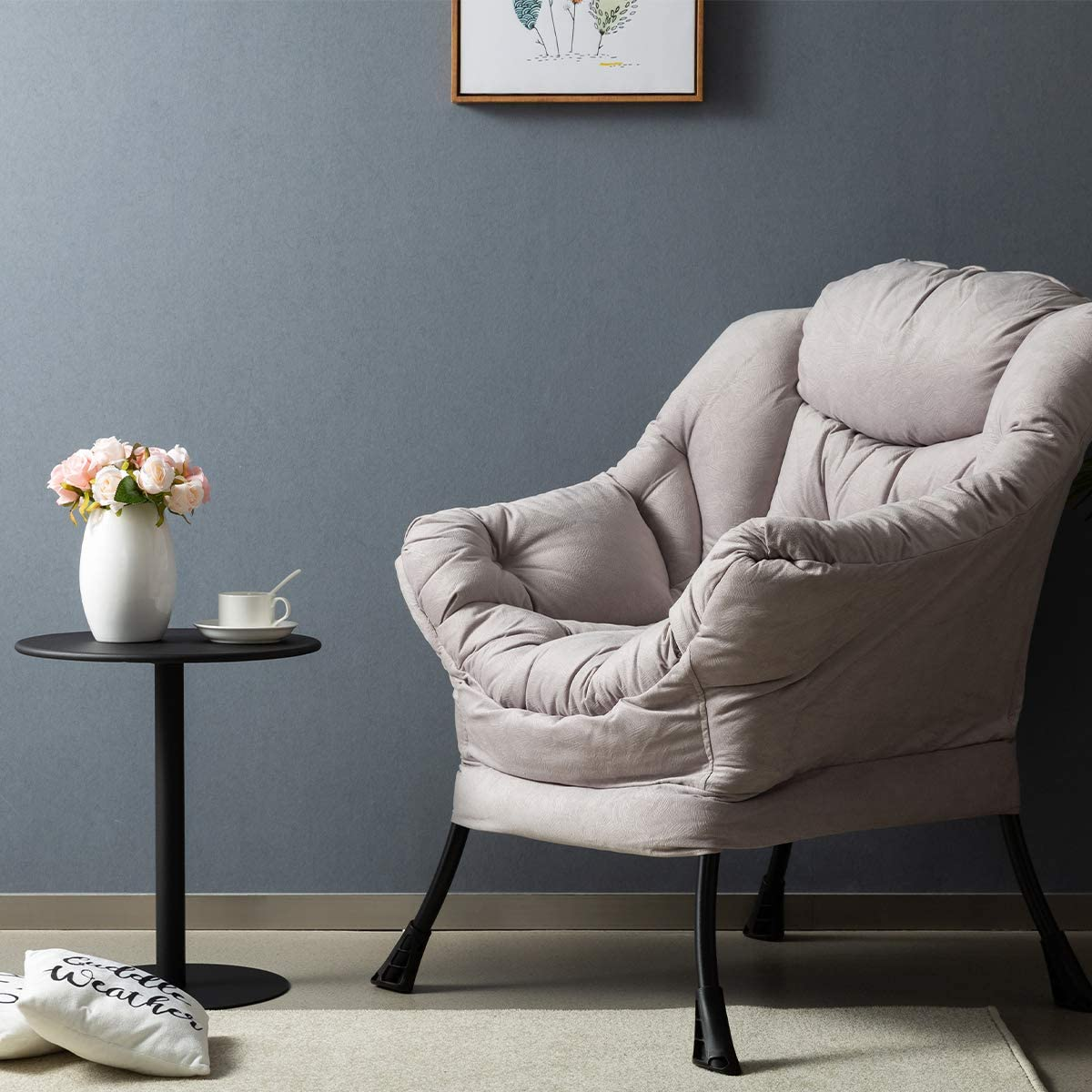 Accent Contemporary Lounge Chair with Armrests and a Side Pocket