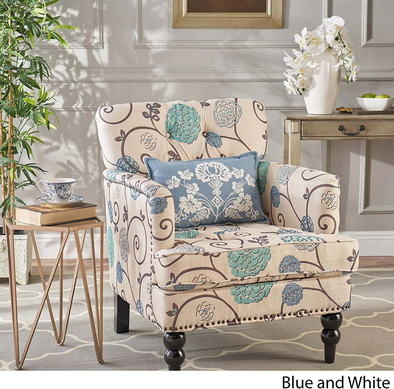 Harrison Fabric Tufted Club Chair