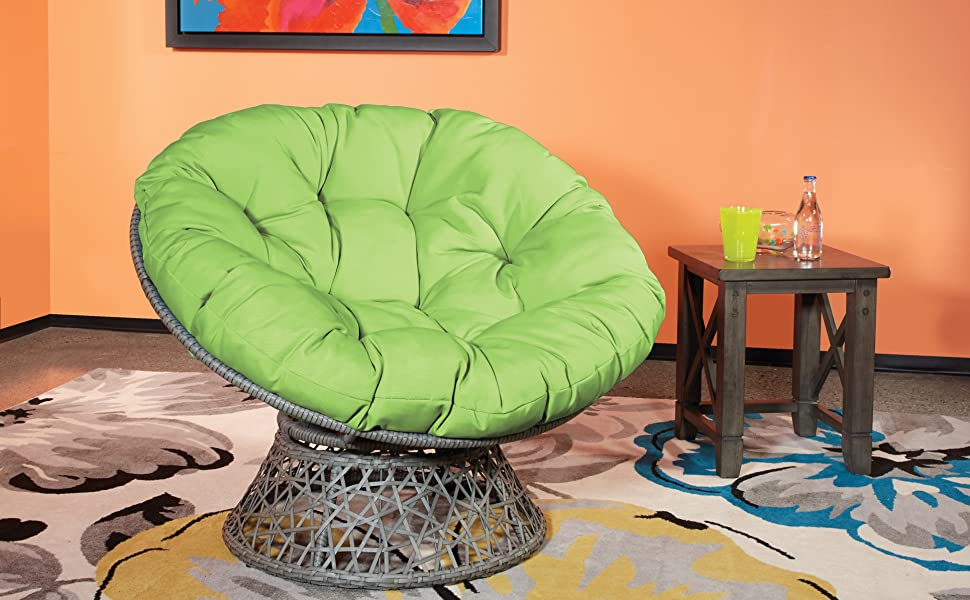 Papasan Chair with 360-degree Swivel By OSP Design